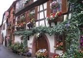 Jolie façade fleurie