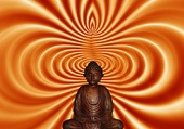 Bouddha assis en tailleur