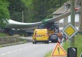 Transport de pale d'éolienne en Corréze