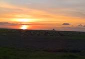coucher de soleil sur la baie du Mont