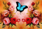 Butterfly in the pink