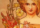fleurs  par mucha