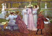 A reading in the garden