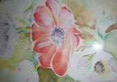 fleurs à l aquarelle