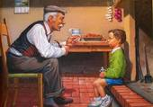 le grand-père et le petit garçon