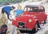 Tintin pub 2cv