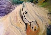 Peinture huile cheval