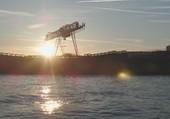 lever de soleil sur le Rhin