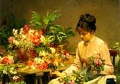 Puzzle Vendeuse de Fleur, V-G Gilbert