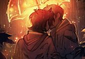 Un baiser sous un parapluie