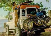 land Rover sur le départ