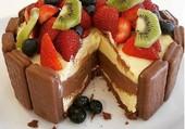 Gâteau aux fruits et chocolat