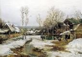 Puzzle l'hiver au village