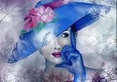 Femme à chapeau