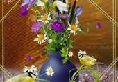 Puzzle bouquet printanier
