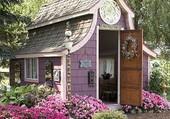 cabane rose