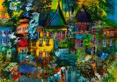 Puzzle Village coloré