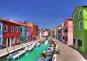 Canal italien coloré