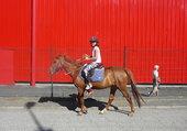 Tania fait du cheval
