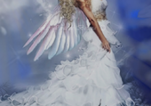 un ange en robe de mariée