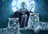 Puzzle Magicienne aux tigres