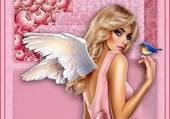 un ange et son oiseau