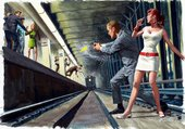 Le métro dessin de Mort Kunstler
