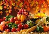 Tableau de fruits et légumes