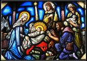 Puzzle La Nativité, vitrail