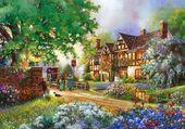 belle maison fleuri