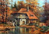 Moulin à l'automne