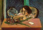 Femme et poisson rouge par H. Matisse