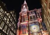 Cathédrale de Strasbourg illuminée