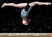 Gymnaste à la poutre