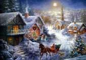 Puzzle Village victorien à Noël