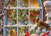Puzzle Les oiseaux de Noël