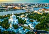 Saint-Pétersbourg, cathédrale et Néva