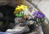 Bottines fleuries