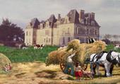 Ramassage foin Château de Bourey