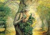 La dryade et l'esprit de l'arbre