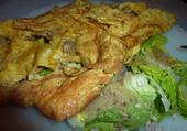 Omelette au hareng fumé