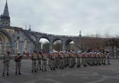 Une vue insolite du parvis de Lourdes