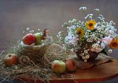 Décoration fleurs et fruits