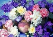 Bel étalage de fleurs