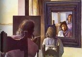 Gala dans le miroir