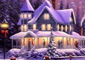 Maison familiale au temps des fêtes