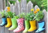 Petites bottes fleuries