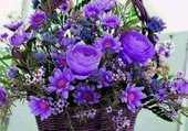 joli bouquet bleu