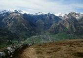 vue de Laruns depuis la Montagne Verte