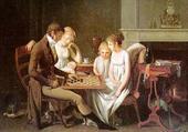 Boilly, jeu de dames en famille